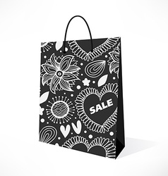 Isolated black bag vector