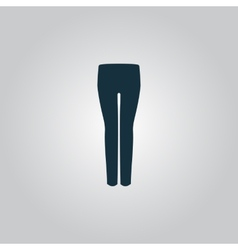 Women pants icon vector