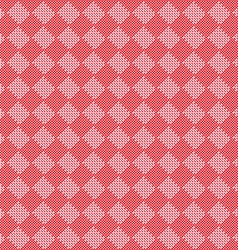 Diagonal red seamless fabric texture pattern vector