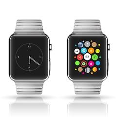 Smart watch mockup vector image