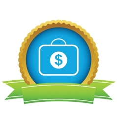 Briefcase with dollars icon vector