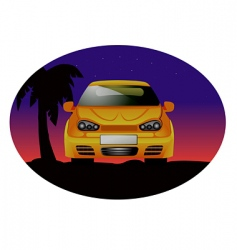 Sports car night vector