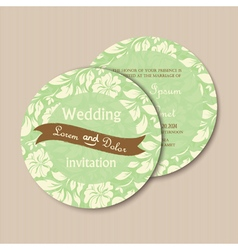 Round invitation card vector