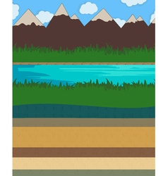 Nature layer ground vector