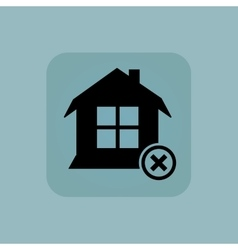 Pale blue remove house icon vector