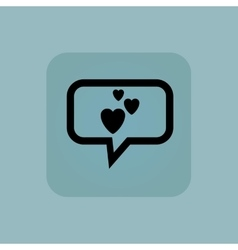 Pale blue love message icon vector