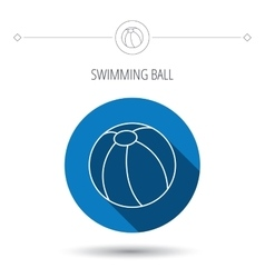 Swimming ball icon beach toy sign vector