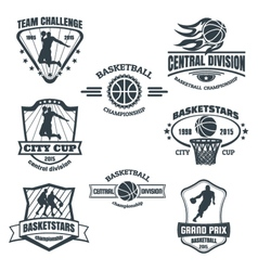 Basketball emblems vector