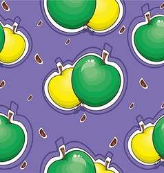 Apple pattern background vector