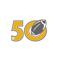 50 pro football championship ball vector