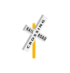 Train crossing road isometric icon vector