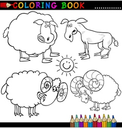 Coloring book or page cartoon of funn vector