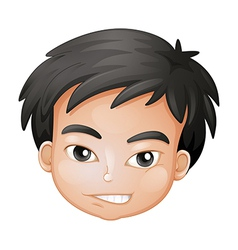 A face of a boy vector image vector image