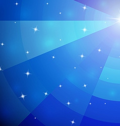 Abstract blue mosaic galaxy with perspective vector image