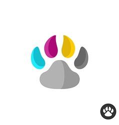 Animal cmyk paw vector image