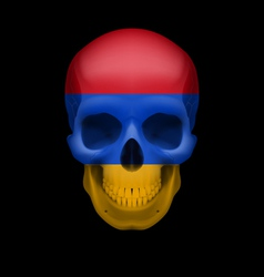 Armenian flag skull vector
