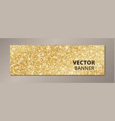 banner with golden glitter background sparkling vector image vector image