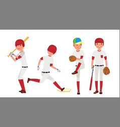 baseball player sport action on the vector image vector image