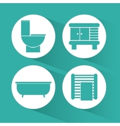 Bathroom icons design vector image