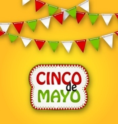 Cinco De Mayo Holiday Bunting Background Mexican vector image