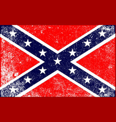 confederate civil war flag vector image vector image