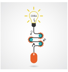 Creative light bulb idea and computer mouse vector image