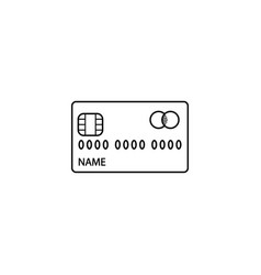 Credit card line icon cash withdrawal and payment vector