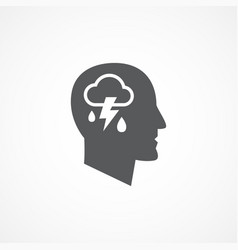 Depression icon vector