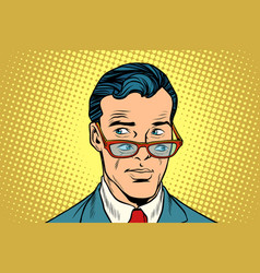 Double view a man in glasses vector