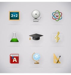 Education pictogram icons set vector