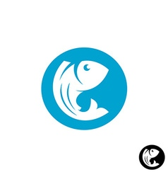 Fish round logo vector