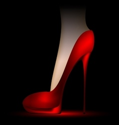 foot in the scarlet shoe vector image vector image
