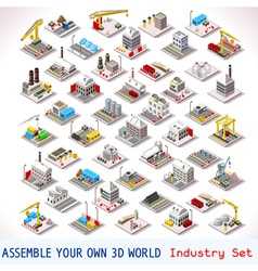 Game set 06 building isometric vector