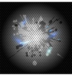 Grunge metal green background vector