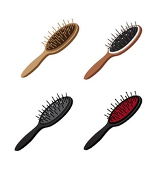 Hairbrush set vector