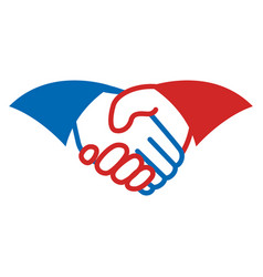 handshake business symbol vector image