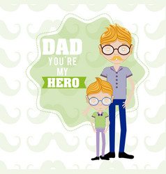 happy fathers day funny cartoons vector image vector image