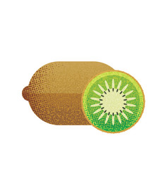 kiwi fruit on white background in flat style vector image vector image