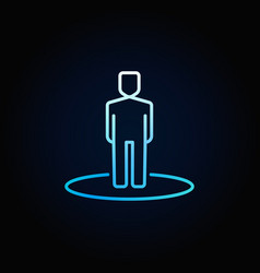 man blue icon vector image