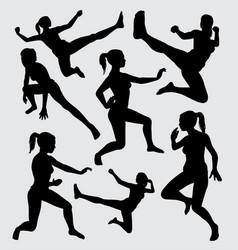 Martial art silhouette vector