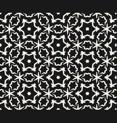 ornamental seamless pattern flower stars vector image