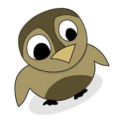 Owlet cute animal vector image