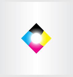 Print logo icon cmyk symbol vector
