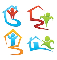 property development and real estate symbols vector image