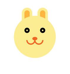 rabbit cartoon animal head vector image