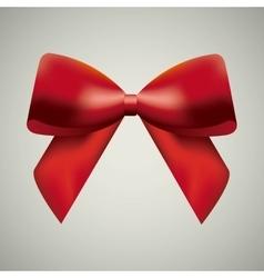 Red bowtie icon ribbon design graphic vector