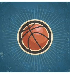 Retro basketball vector
