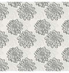 Seamless pattern with dahlias vector