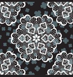 Seamless textile print vector