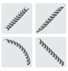 Set of icons with springs vector